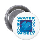 Conserve Water 6 Cm Round Badge