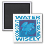 Conserve Water Square Magnet