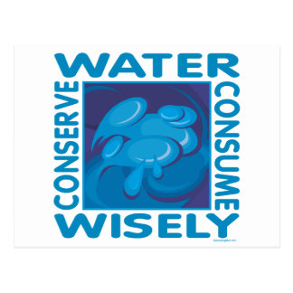 Conserve Water - Use Wisely Post Card