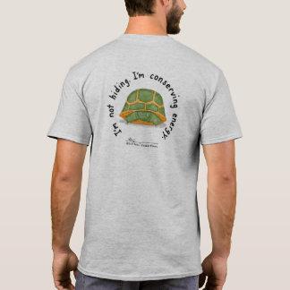 Conserving Energy Men's Gray T (Design on Back) T-Shirt