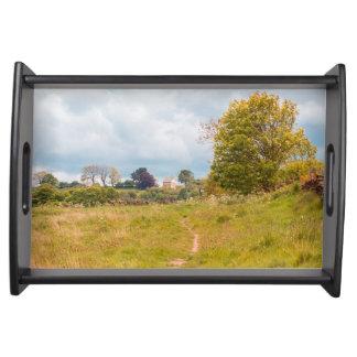 Consett landscape photograph serving tray