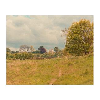 Consett landscape photograph wood wall art picture