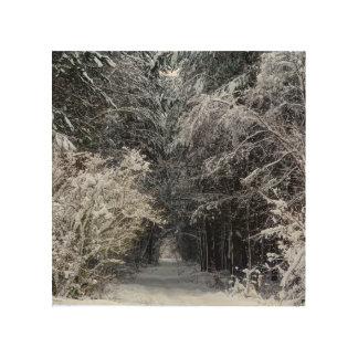 Consett winter woods landscape wood wall art