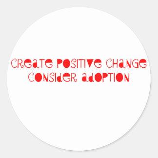 Consider Adoption Round Sticker