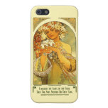 Consider the Lilies of the Field Alphonse Mucha Cover For iPhone 5/5S