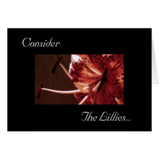 Consider the Lillies 105 Card