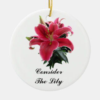 CONSIDER THE LILY-ORNAMENT CHRISTMAS ORNAMENT