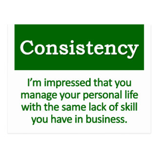 Consistency Definition Post Cards