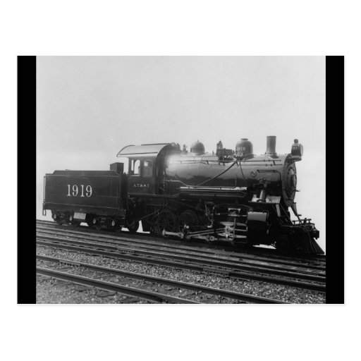 Consolidation 2-8-0 Vintage Steam EngineTrain Postcard