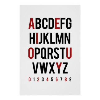 Consonant / Vowel - Even / Odd Posters