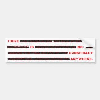 Conspiracy Bumper Sticker