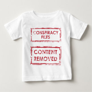 Conspiracy Files Stamp Content Removed Stamp Baby T-Shirt