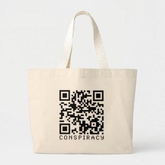 Conspiracy QR Code Canvas Bag
