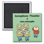 Conspiracy Theorist = non-sheeple Fridge Magnets
