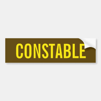 CONSTABLE - Golden Yellow Logo Emblem Bumper Sticker