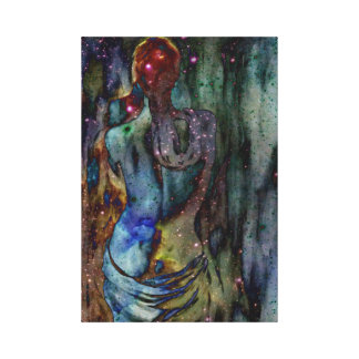 constalation woman gallery wrapped canvas