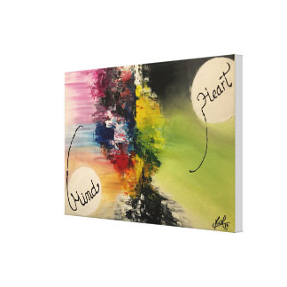 """Constant battle"" Original Abstract Painting Canvas Print"