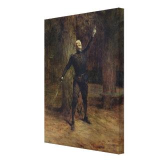 Constant Coquelin  as Cyrano de Bergerac Stretched Canvas Print