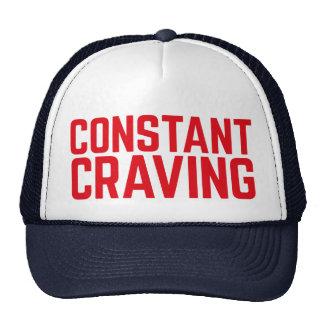 CONSTANT CRAVING fun slogan trucker hat