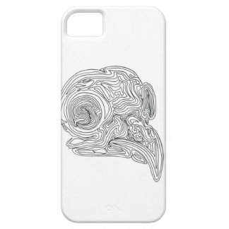 Constant line Bird Skull Barely There iPhone 5 Case