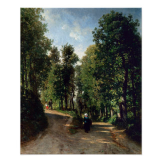 Constant Troyon Road in the Woods Poster