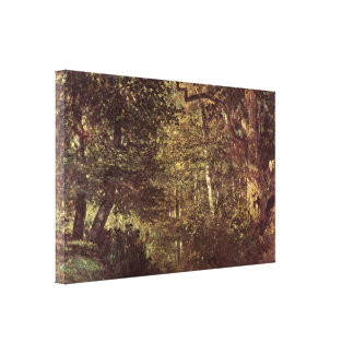 Constant Troyon - The water in the forest Gallery Wrap Canvas