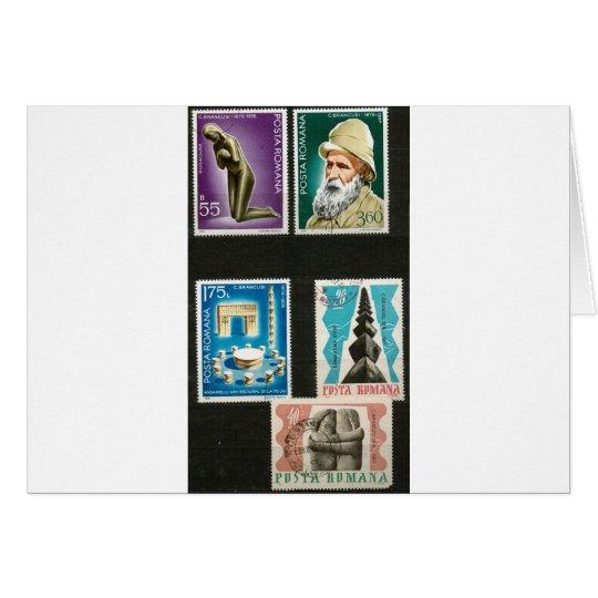 Constantin Brancusi art on stamps Card