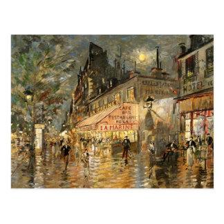 Constantin Korovin: Cafe La Marine, Paris Postcard