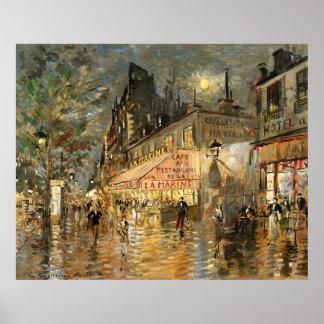 Constantin Korovin: Cafe La Marine, Paris Poster