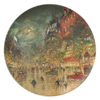 Constantin Korovin: Paris at Night Plate