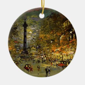 Constantin Korovin: The Square of Bastille, Paris Christmas Ornament