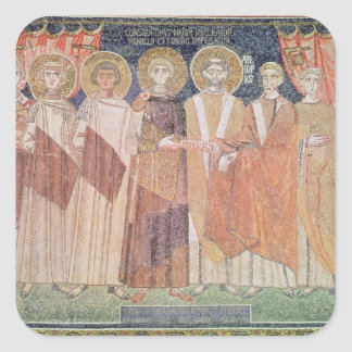 Constantine IV granting Bishop privileges Square Sticker
