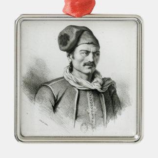 Constantine Kanaris Silver-Colored Square Decoration