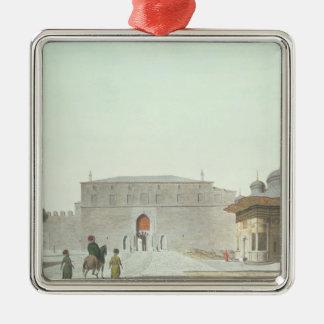 Constantinople: Haghia Sophia Square showing the f Silver-Colored Square Decoration
