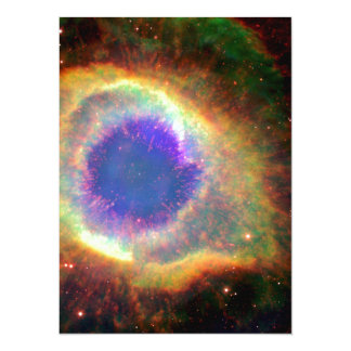 Constellation Aquarius a Dying Star White Dwarf 14 Cm X 19 Cm Invitation Card