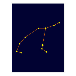 Constellation constellation Perseus Post Card