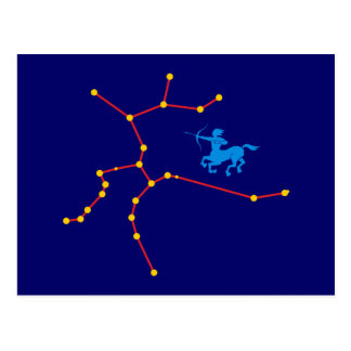 Constellation contactor constellation Sagittarius Postcard