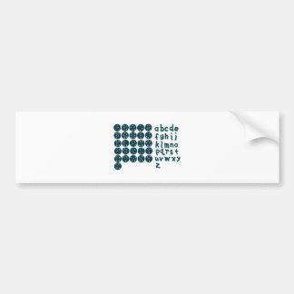 Constellation Font Bumper Sticker