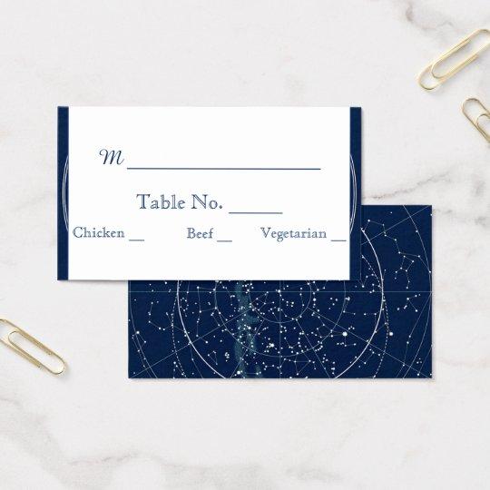 Constellation Night Sky Wedding Place Cards