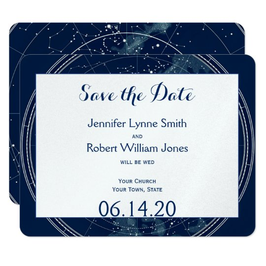 Constellation Night Sky Wedding Save the Date Card