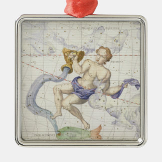 Constellation of Aquarius, plate 9 from 'Atlas Coe Christmas Ornament