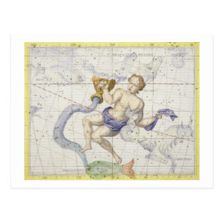 Constellation of Aquarius, plate 9 from 'Atlas Coe Postcard