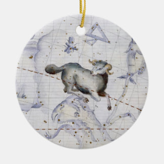 Constellation of Aries, plate 4 from 'Atlas Coeles Christmas Ornament