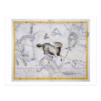 Constellation of Aries, plate 4 from 'Atlas Coeles Postcard