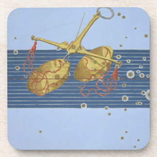 Constellation of Libra, from 'Uranometria' by Joha Beverage Coasters