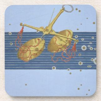Constellation of Libra, from 'Uranometria' by Joha Beverage Coasters