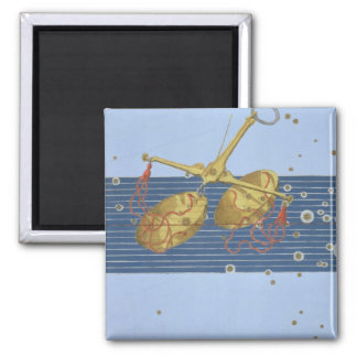 Constellation of Libra, from 'Uranometria' by Joha Square Magnet