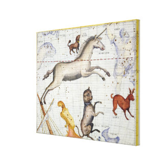 Constellation of Monoceros with Canis Major and Mi Canvas Print