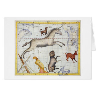 Constellation of Monoceros with Canis Major and Mi Greeting Card