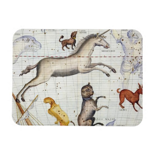 Constellation of Monoceros with Canis Major and Mi Rectangular Magnet